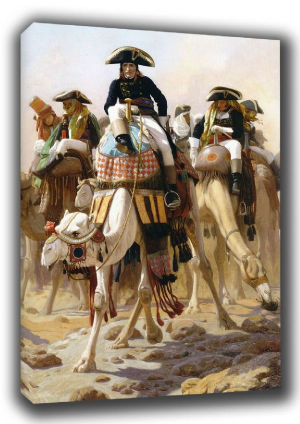 Gerome, Jean Leon: Napoleon and His Military/General Staff in Egypt. Fine Art Canvas. Sizes: A3/A2/A1. (002873)